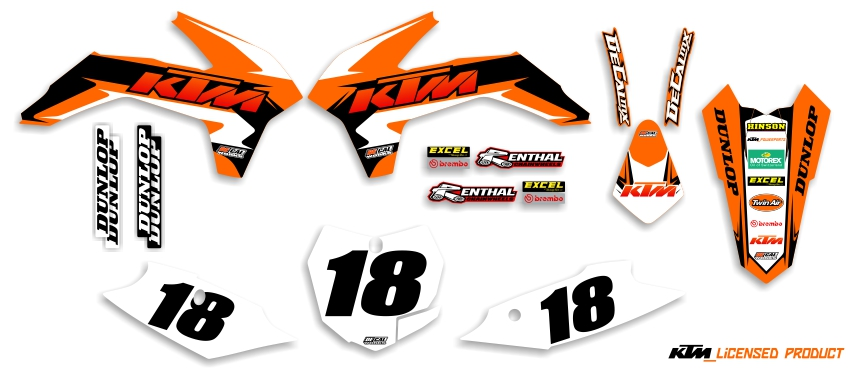 MX Graphics Dirt Bike Decals KTM Garage Sale Series Complete Graphics