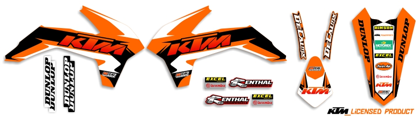 MX Graphics Dirt Bike Decals KTM Garage Sale Series Full Graphics