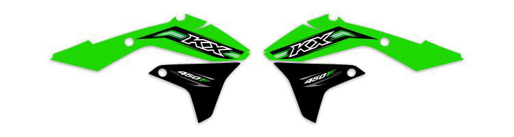 MX Graphics Dirt Bike Decals Kawasaki OEM Replica Series Rad Graphics