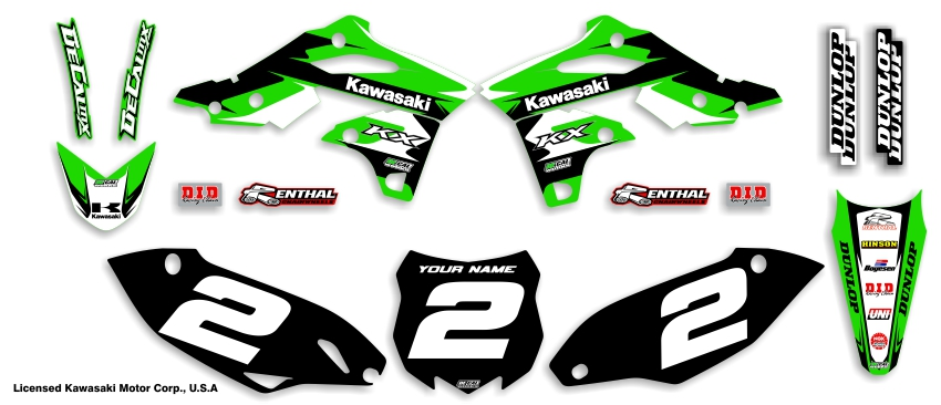 MX Graphics Dirt Bike Decals Kawasaki Garage Sale Series Complete Graphics