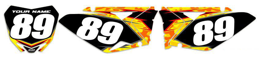 MX Graphics Dirt Bike Decals Suzuki Traditional Camo Number Plates