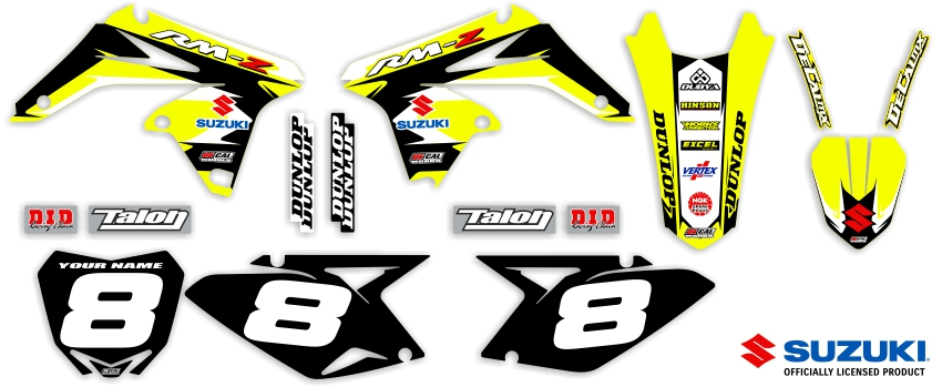 MX Graphics Dirt Bike Decals Suzuki Garage Sale Series Complete Graphics