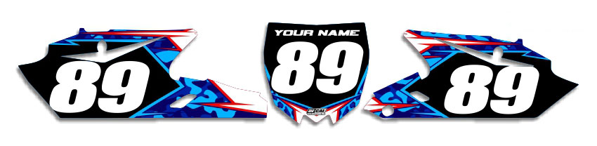 MX Graphics Dirt Bike Decals Yamaha Traditional Camo Number Plates