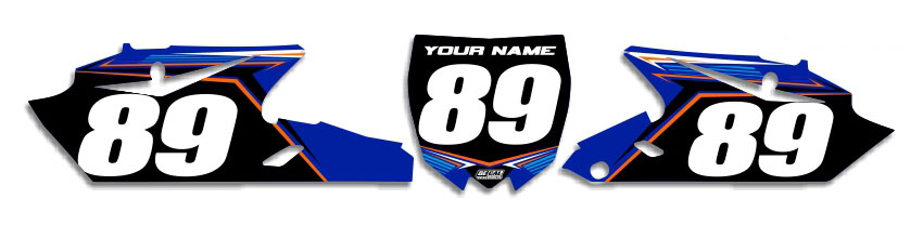 MX Graphics Dirt Bike Decals Yamaha T-12 Number Plates