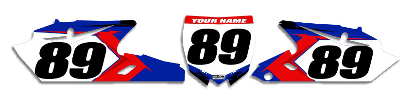 MX Graphics Dirt Bike Decals Yamaha T-15 Number Plates