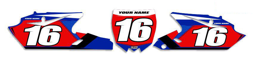 MX Graphics Dirt Bike Decals Yamaha T-16 Number Plates