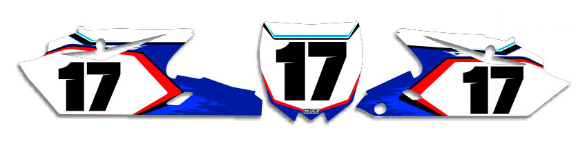 MX Graphics Dirt Bike Decals Yamaha T-17 Number Plates