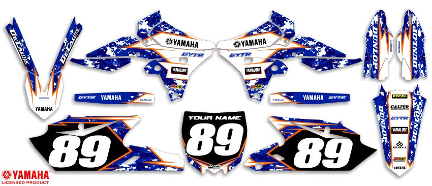 DeCal Works Ready Made Complete Dirt Bike Graphics Kits - Decal graphics for dirt bikes