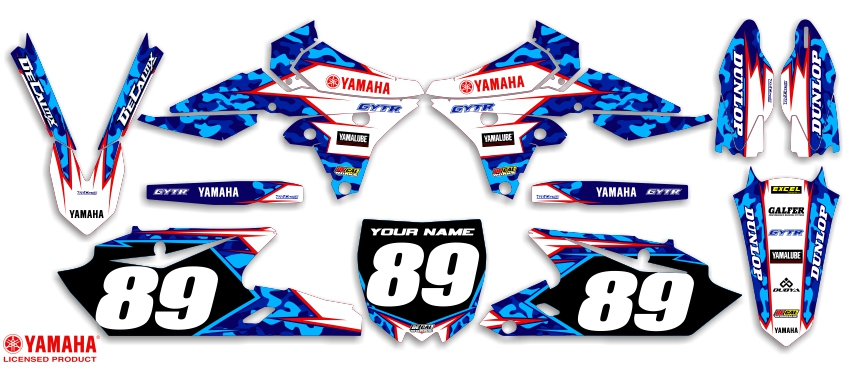 DeCal Works Ready Made Complete Dirt Bike Graphics Kits - Decal graphics