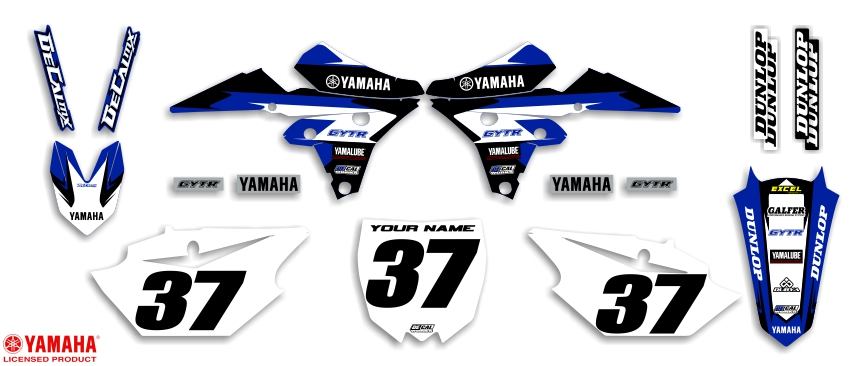 MX Graphics Dirt Bike Decals Yamaha Garage Sale Series Complete Graphics