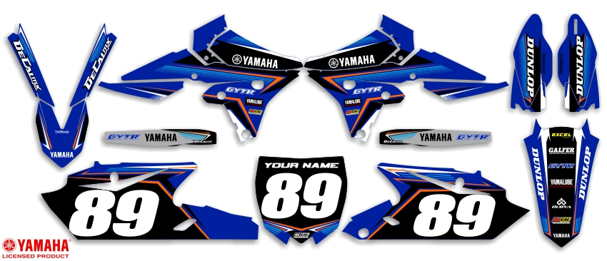 Mx graphics dirt bike decals yamaha t 12 ready made complete kit