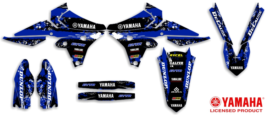 DeCal Works Yamaha Ready Made Full TSeries Dirt Bike Graphics Kits - Decal graphics for dirt bikes