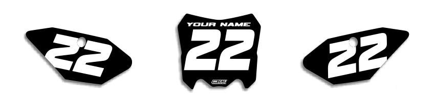 MX Graphics Dirt Bike Decals Honda EZ Number Plates