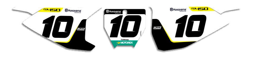 MX Graphics Dirt Bike DeCals Husqvarna Factory Series 18 Number Plates