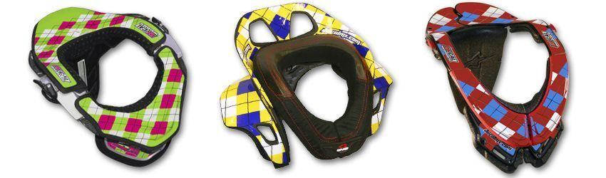 Motocross Neck Brace DeCal Kit Argyle Series