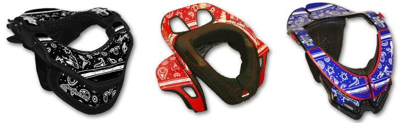 Motocross Neck Brace DeCal Kit Bandana Series