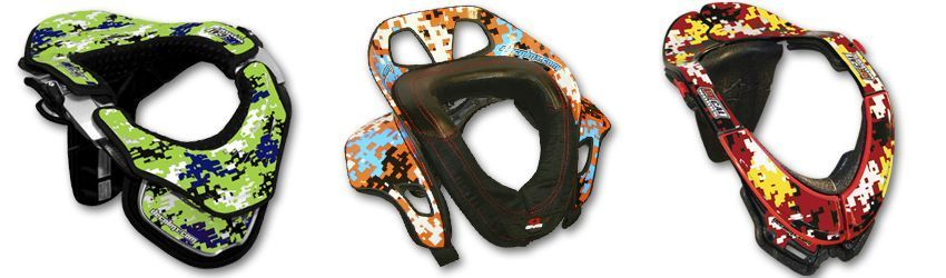 Motocross Neck Brace DeCal Kit Digital Camo Series