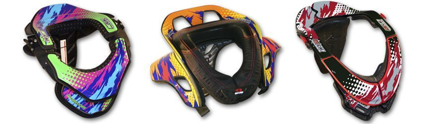 Motocross Neck Brace DeCal Kit T-8 Series