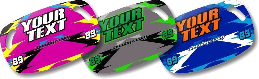 Dirt Bike Motocross MX Custom Pit Board T-6 Series