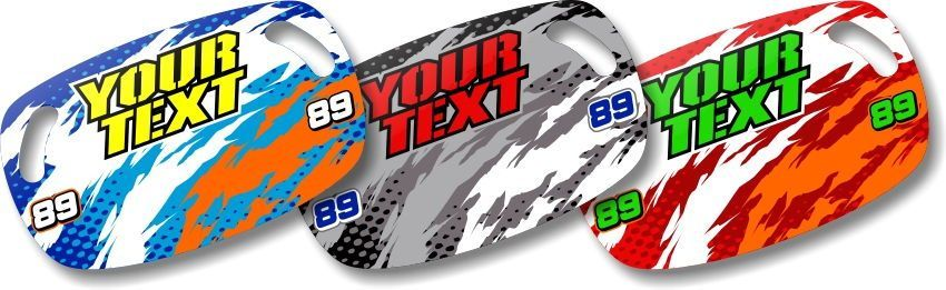 Dirt Bike Motocross MX Custom Pit Board T-8 Series