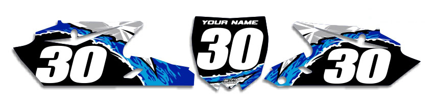 MX Graphics Dirt Bike Decals Yamaha T-10 Number Plates