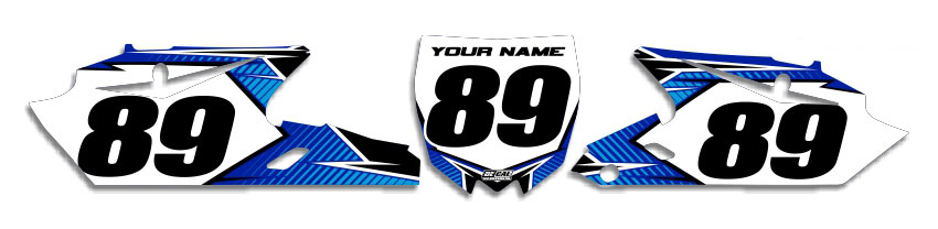 MX Graphics Dirt Bike Decals Yamaha T-11 Number Plates