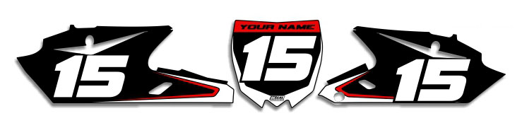 MX Graphics Dirt Bike Decals Yamaha T-1 Number Plates