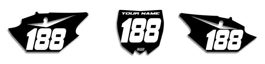 MX Graphics Dirt Bike Decals Yamaha EZ Number Plates