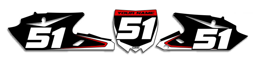 MX Graphics Dirt Bike Decals Yamaha Super Number Plates