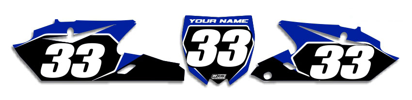 MX Graphics Dirt Bike Decals Yamaha T-2 Number Plates