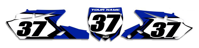 MX Graphics Dirt Bike Decals Yamaha T-4 Number Plates