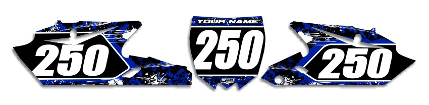 MX Graphics Dirt Bike Decals Yamaha T-5 Number Plates