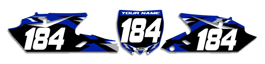 MX Graphics Dirt Bike Decals Yamaha T-6 Number Plates