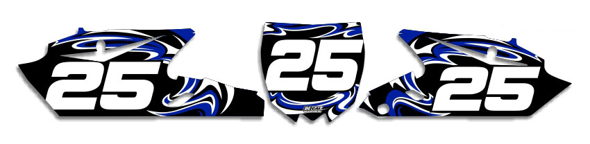 MX Graphics Dirt Bike Decals Yamaha T-7 Number Plates