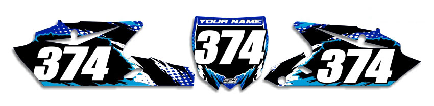 MX Graphics Dirt Bike Decals Yamaha T-8 Number Plates