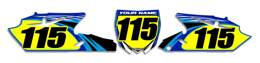 MX Graphics Dirt Bike Decals Yamaha T-9 Number Plates