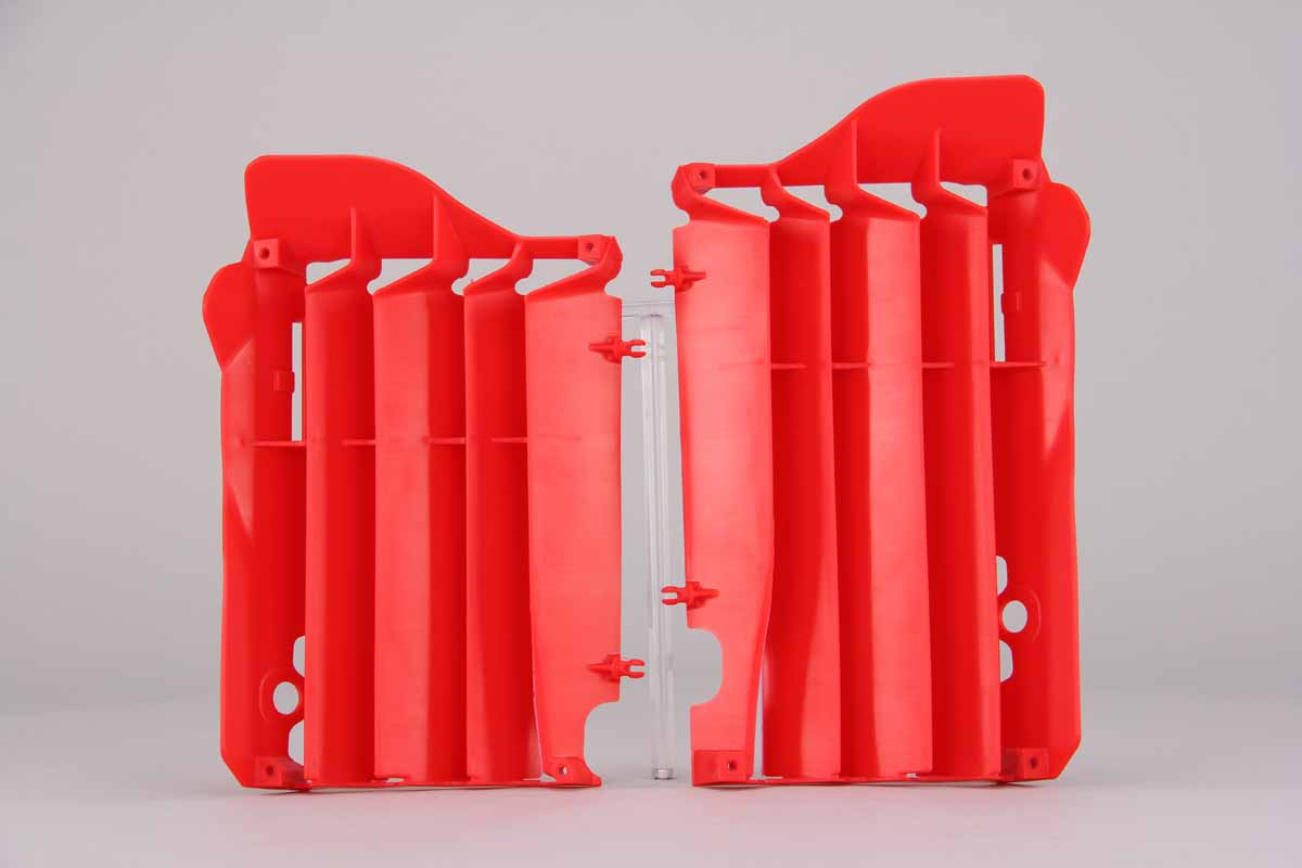 Red Radiator Louvers Honda: CRF450R [DeCal Works Restyled Side Plate Plastic] (2015-16) / CRF450R [Stock Shape Side Plate Plastic] (2015-16)