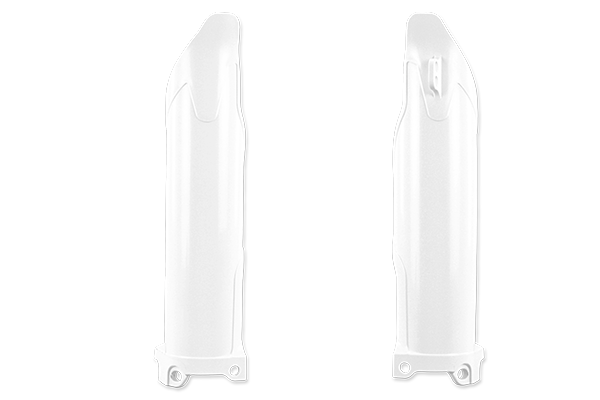 White Complete Plastic Kit With Lower Forks Kawasaki: KX450F (2009-11)