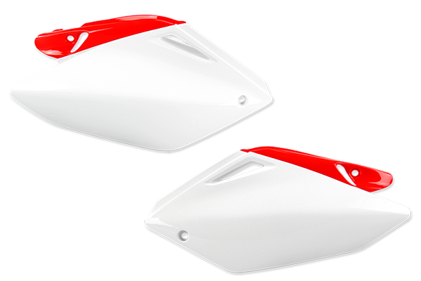 White / Red Plastic Kit Level 1 Honda: CRF250R (2004-05)