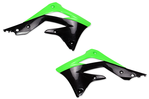 Green / Black Plastic Kit Level 4 Kawasaki: KX450F (2012)