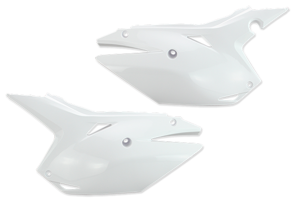 White Plastic Kit Level 1 Honda: CRF250R [Stock Shape Side Plate Plastic] (2014-17) / CRF250R [DeCal Works Restyled Side Plate Plastic] (2014-17) / CRF450R [DeCal Works Restyled Side Plate Plastic] (2013-16) / CRF450R [Stock Shape Side Plate Plastic] (2013-16)