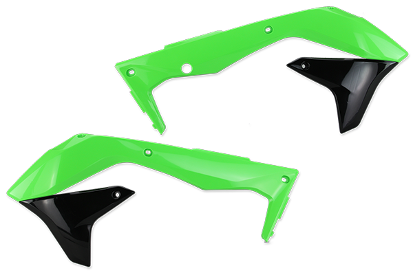 Green / Black Plastic Kit Level 3 Kawasaki: KX450F (2016-18)