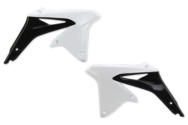 White / Black Complete Plastic Kit With Lower Forks Suzuki RMZ450