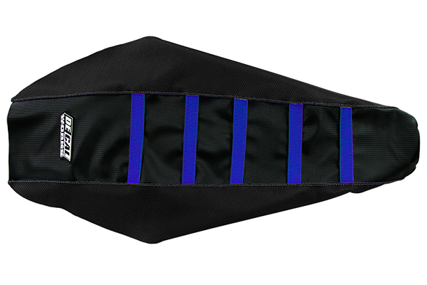 DeCal Works Gripper Ribbed Seat Cover Black / Black / Blue Plastic Kit Level 1 Yamaha: YZ250F (2008-09) / YZ450F (2008-09)