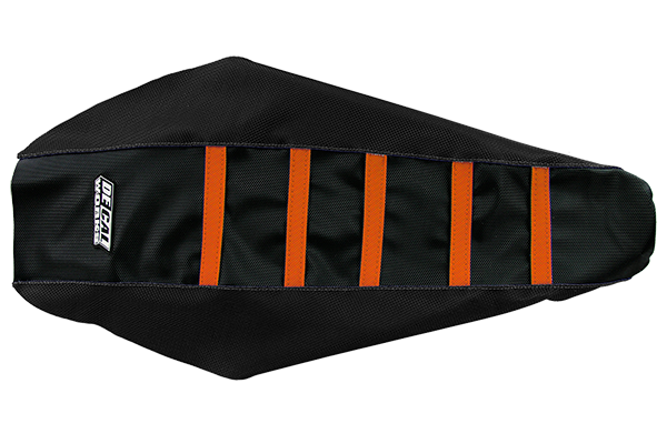 DeCal Works Gripper Ribbed Seat Cover Black / Black / Orange DeCal Works Seat Covers {{bikestring}}