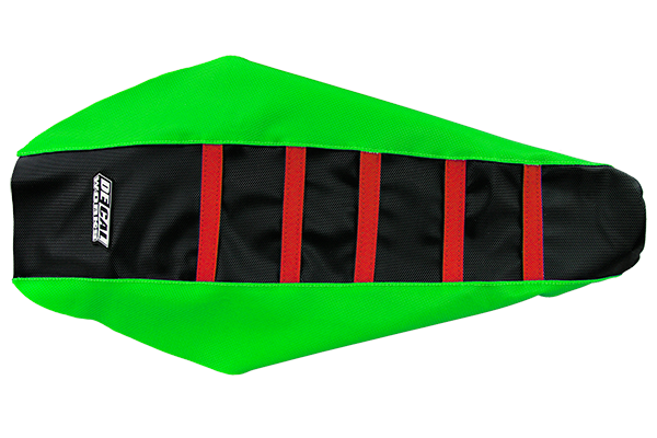 DeCal Works Gripper Ribbed Seat Cover Green / Black / Red DeCal Works Seat Covers {{bikestring}}