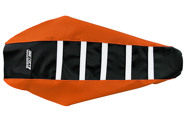 DeCal Works Gripper Ribbed Seat Cover Orange / Black / White DeCal Works Seat Covers {{bikestring}}