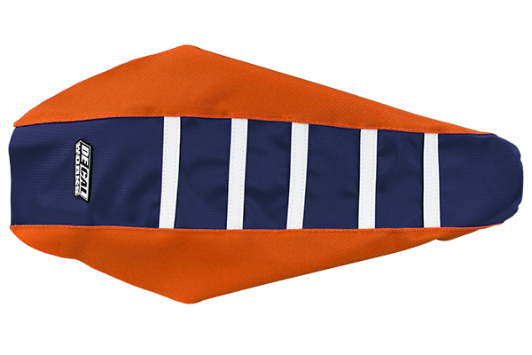 DeCal Works Gripper Ribbed Seat Cover Orange / Navy / White DeCal Works Seat Covers {{bikestring}}