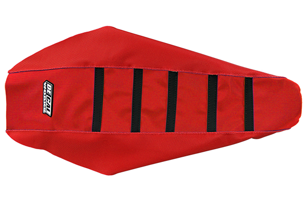 DeCal Works Gripper Ribbed Seat Cover Red / Red / Black Plastic Kit Level 1 Honda: CR125 (2 Stroke) (2000-01) / CR250 (2 Stroke) (2000-01)
