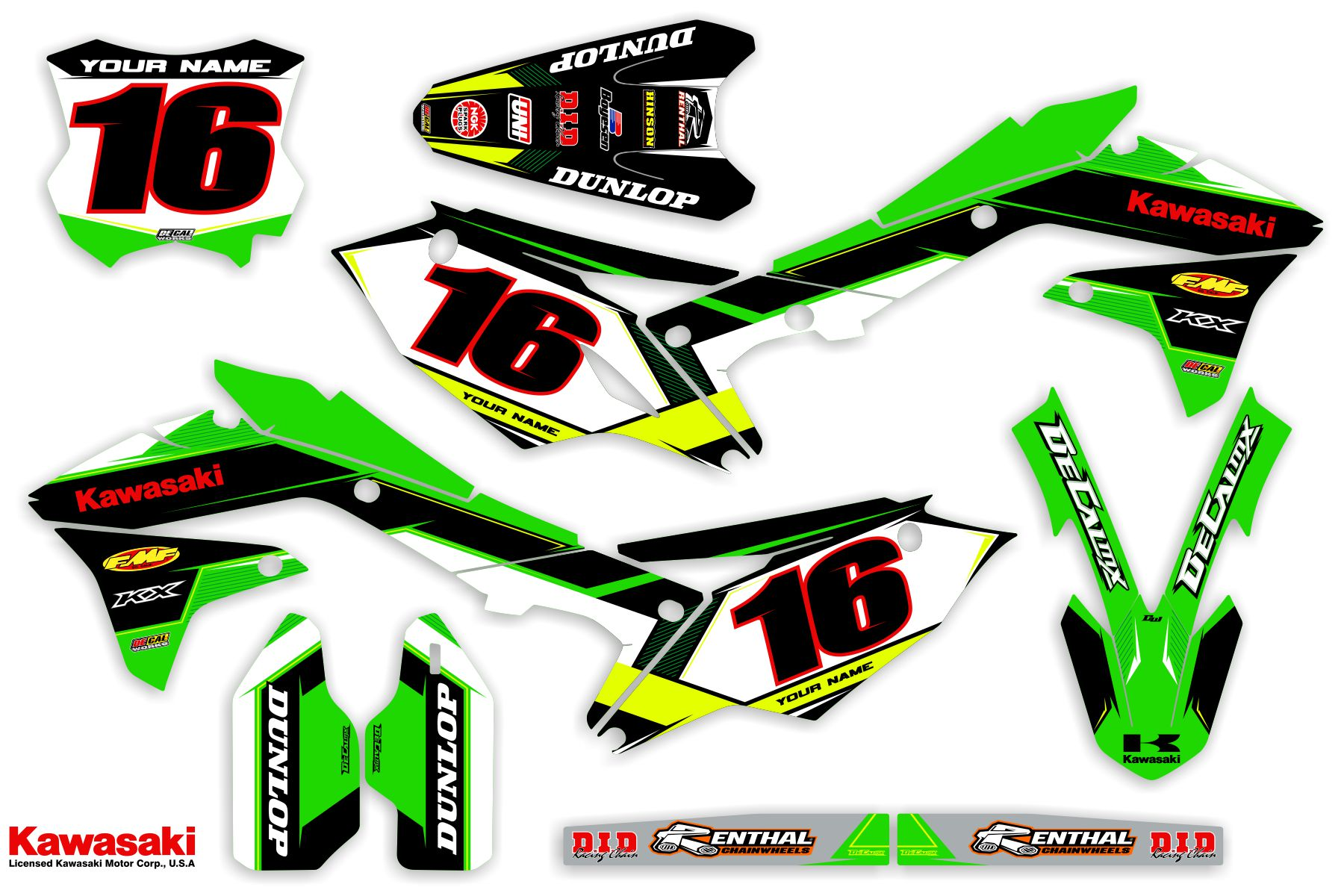 DeCal Works Ready Made Complete Graphics Kit